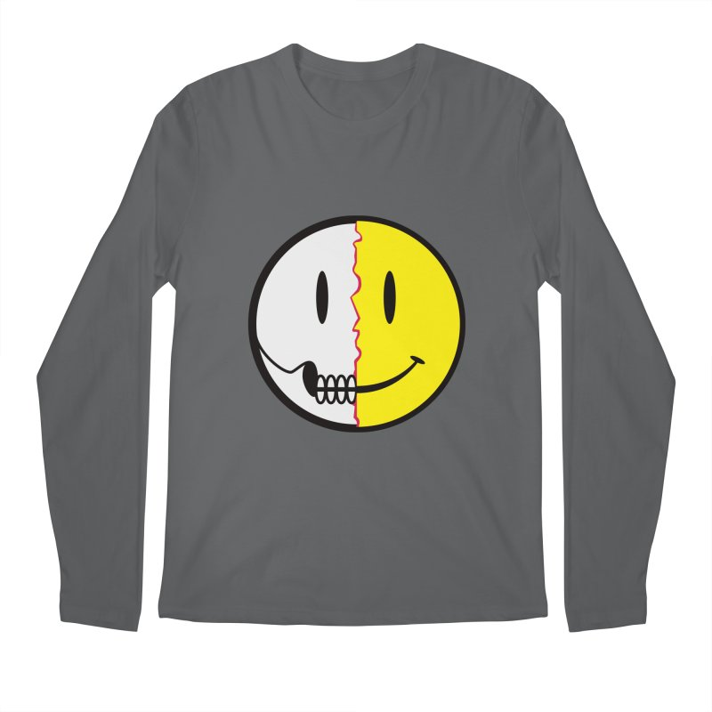 Smiley Dissection  Men's Longsleeve T-Shirt by Numb Skull