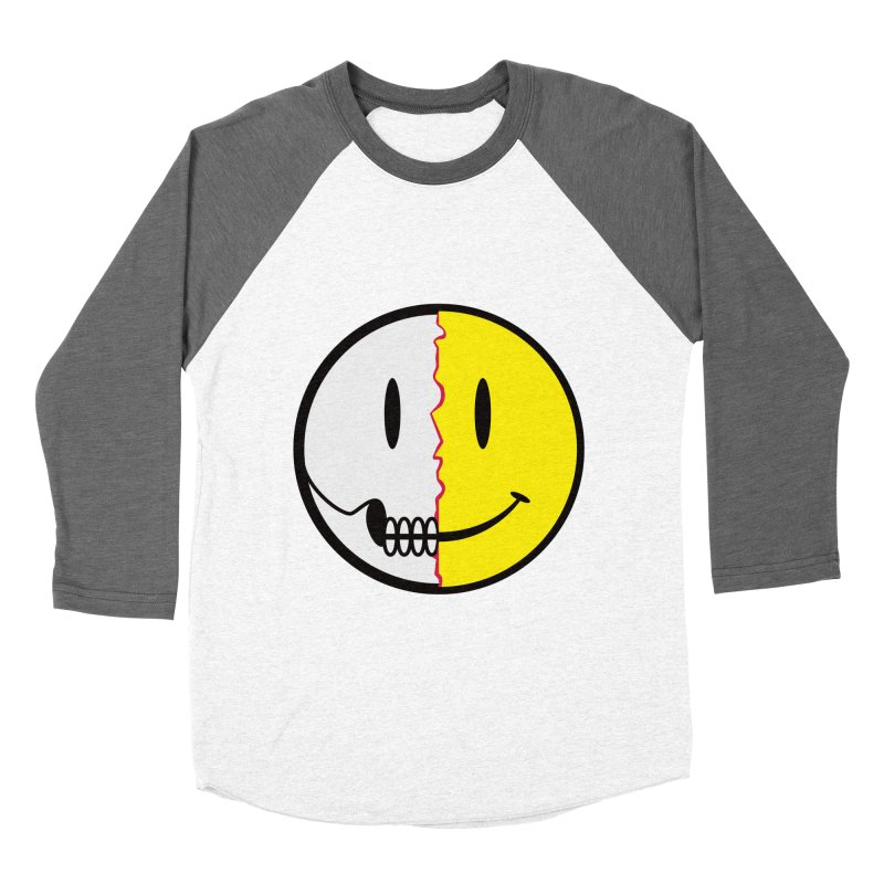 Smiley Dissection  Men's Baseball Triblend T-Shirt by Numb Skull
