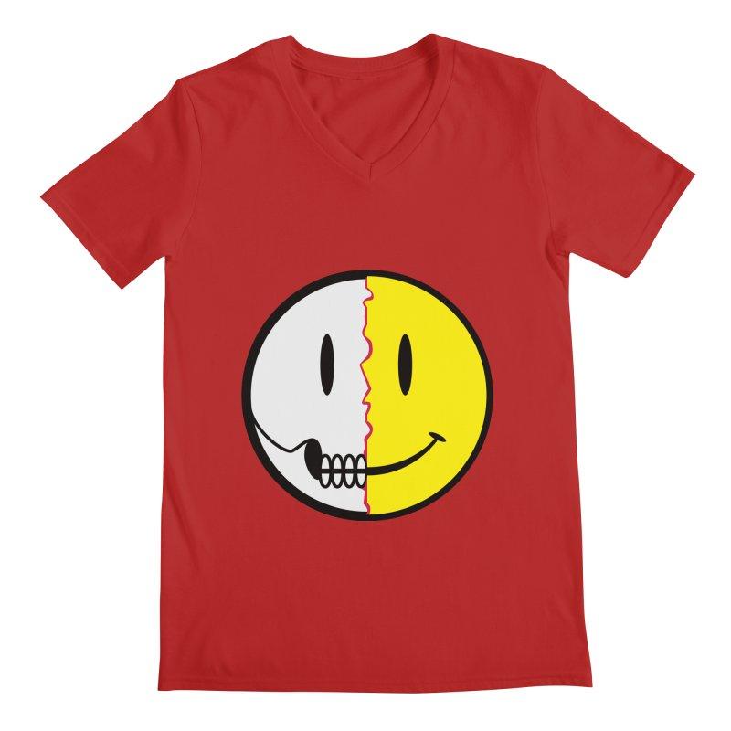 Smiley Dissection  Men's V-Neck by Numb Skull