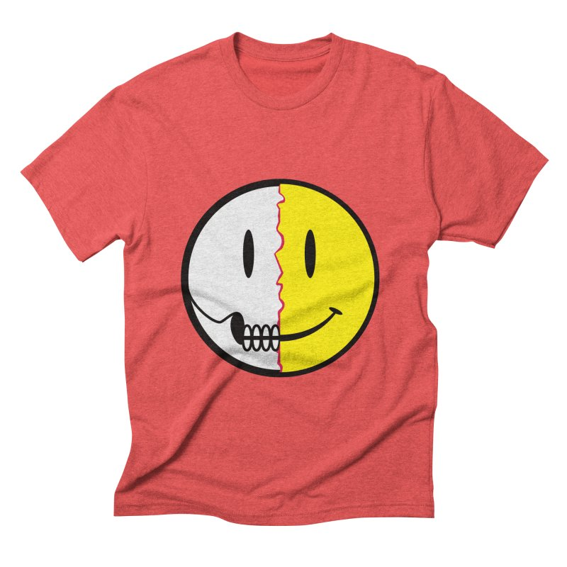 Smiley Dissection  Men's Triblend T-shirt by Numb Skull
