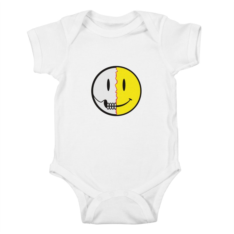 Smiley Dissection  Kids Baby Bodysuit by Numb Skull