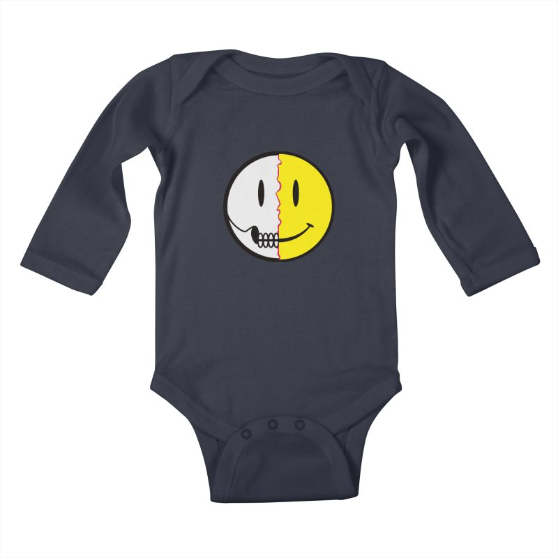 Smiley Dissection  Kids Baby Longsleeve Bodysuit by Numb Skull