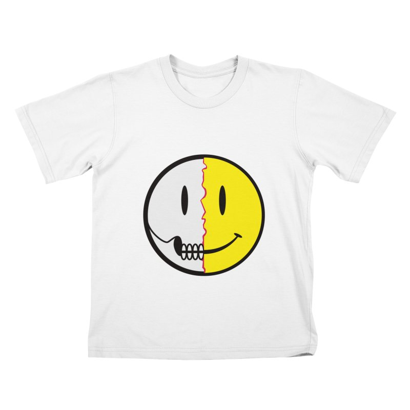 Smiley Dissection  Kids T-shirt by Numb Skull