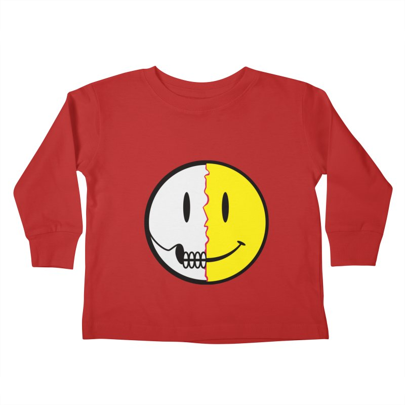 Smiley Dissection  Kids Toddler Longsleeve T-Shirt by Numb Skull
