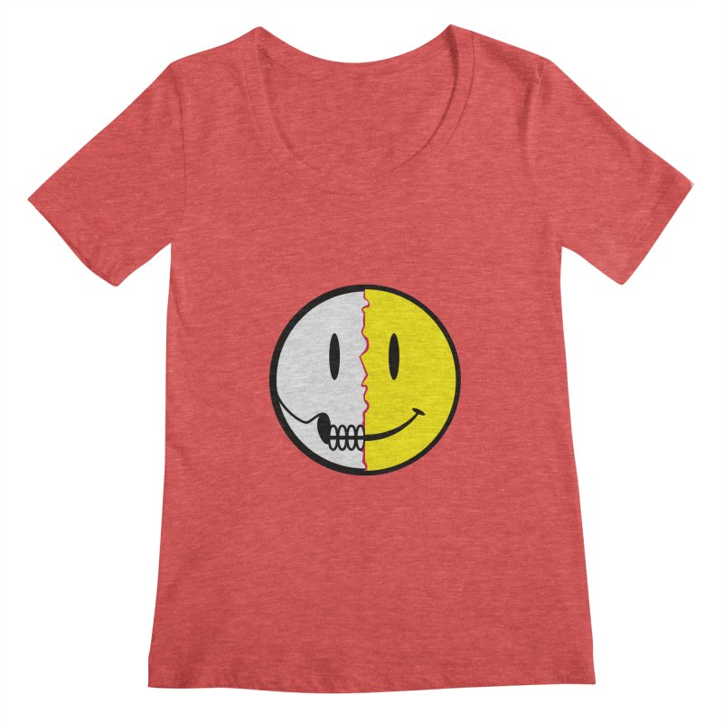 Smiley Dissection  Women's Scoopneck by Numb Skull