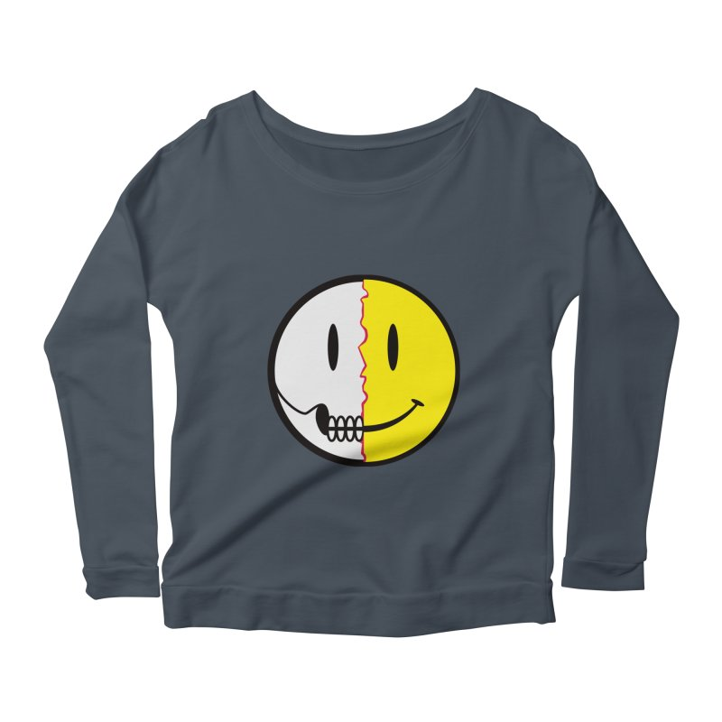 Smiley Dissection  Women's Longsleeve Scoopneck  by Numb Skull