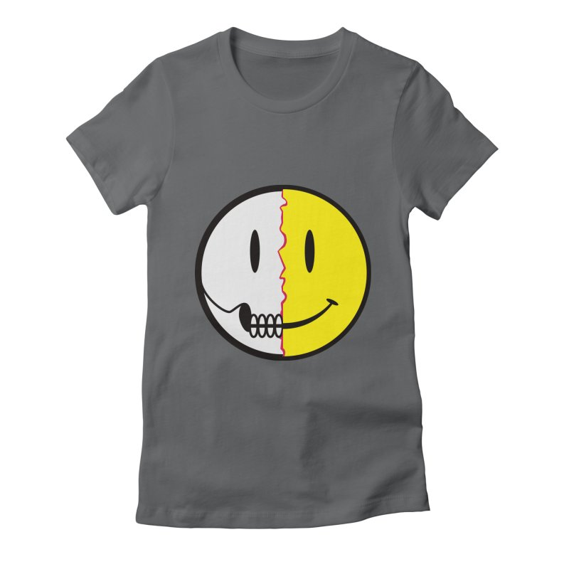 Smiley Dissection  Women's Fitted T-Shirt by Numb Skull