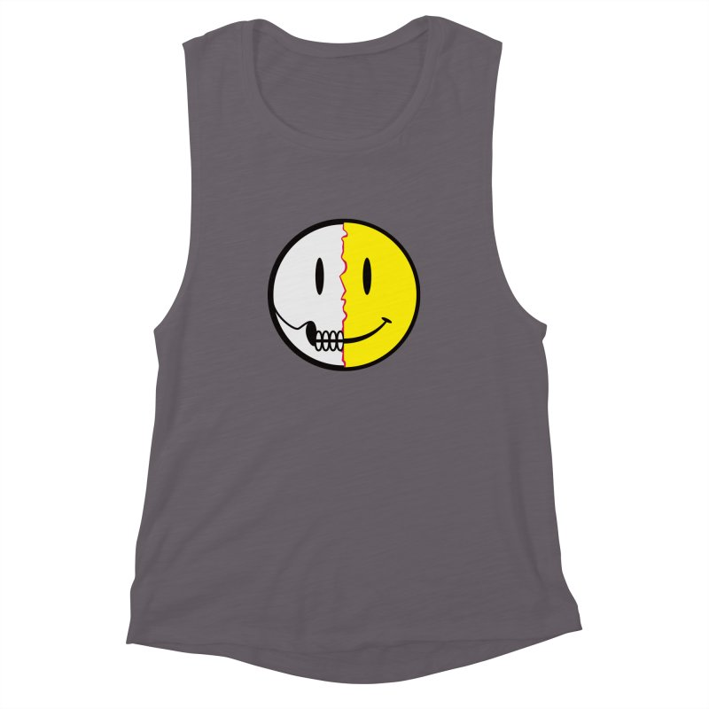 Smiley Dissection  Women's Muscle Tank by Numb Skull