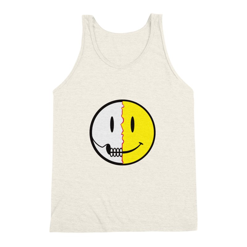 Smiley Dissection  Men's Triblend Tank by Numb Skull