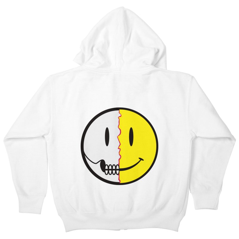 Smiley Dissection  Kids Zip-Up Hoody by Numb Skull