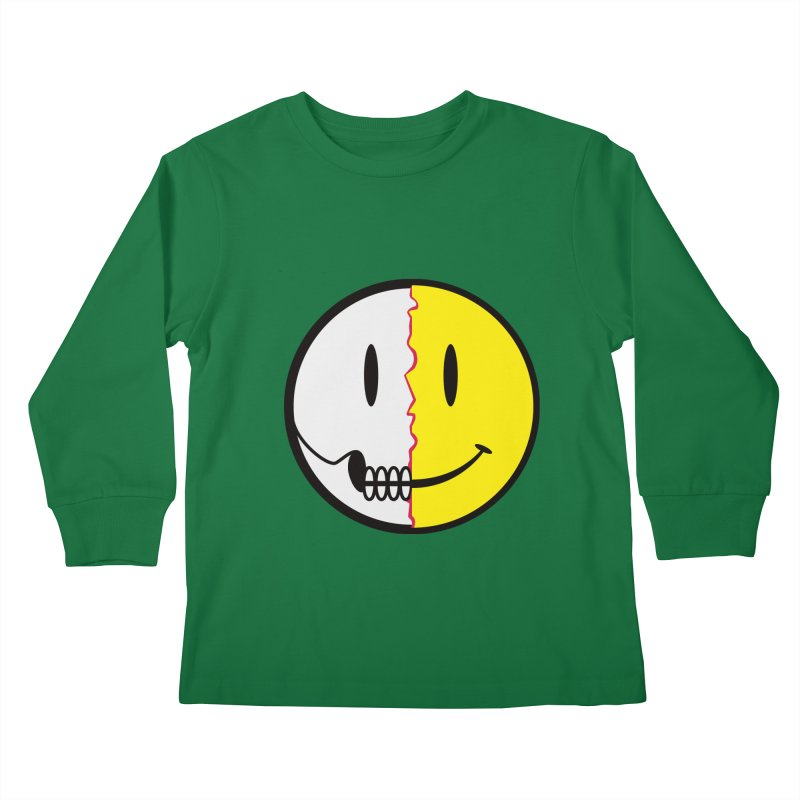 Smiley Dissection  Kids Longsleeve T-Shirt by Numb Skull