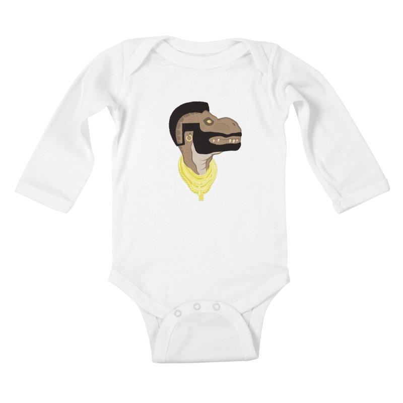 MR T REX Kids Baby Longsleeve Bodysuit by Numb Skull