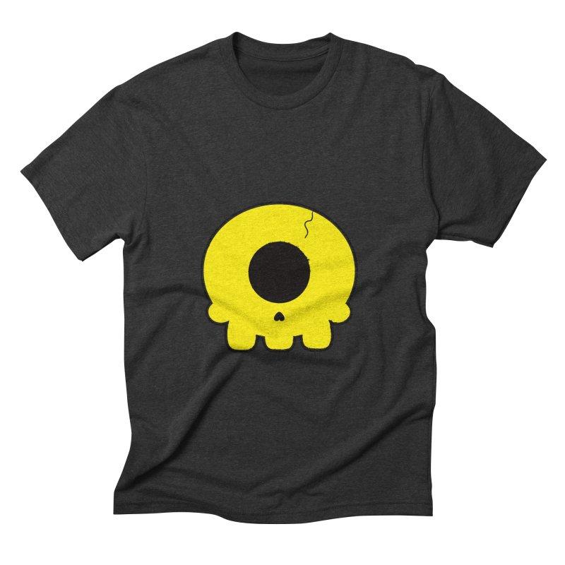 Cyclops Skull Men's Triblend T-shirt by Numb Skull