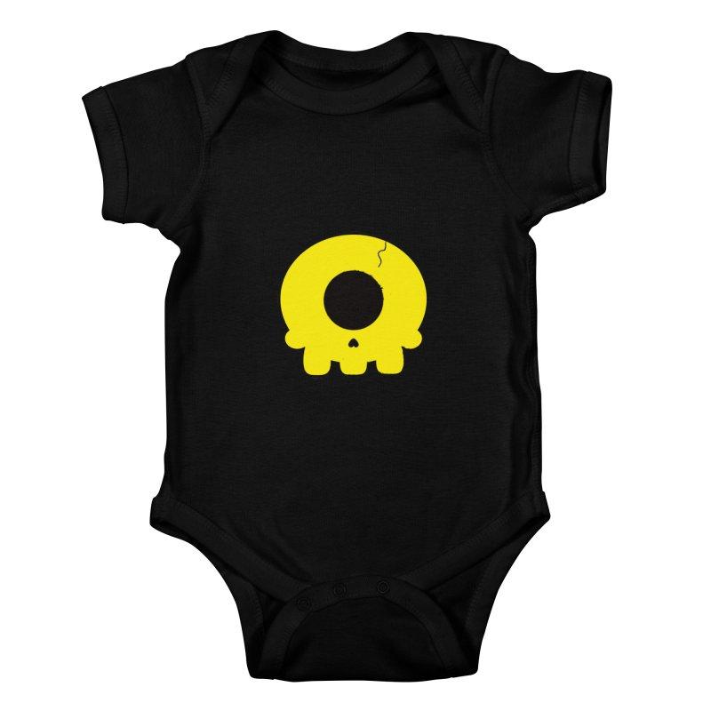 Cyclops Skull Kids Baby Bodysuit by Numb Skull