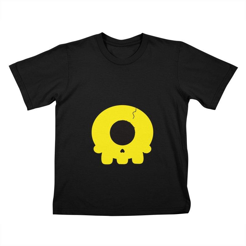 Cyclops Skull Kids T-shirt by Numb Skull