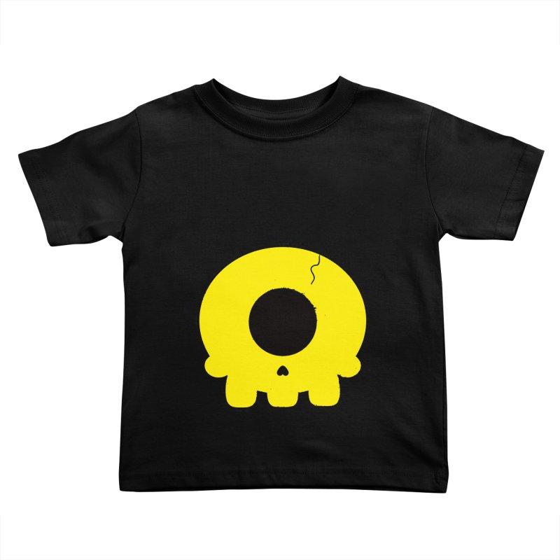 Cyclops Skull Kids Toddler T-Shirt by Numb Skull