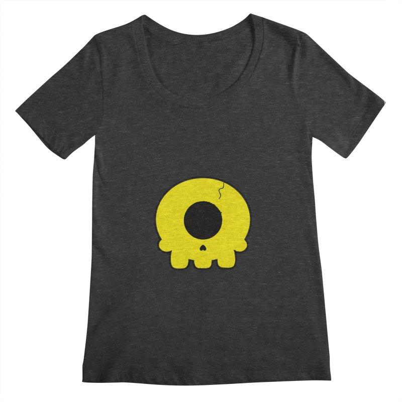Cyclops Skull Women's Scoopneck by Numb Skull
