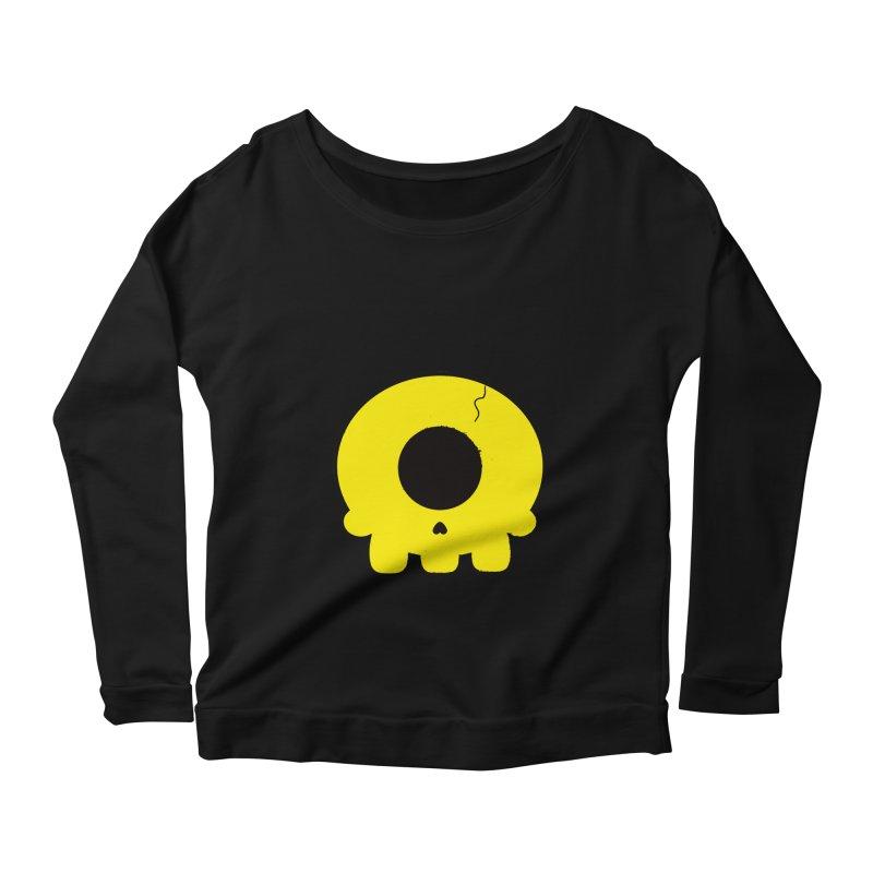 Cyclops Skull Women's Longsleeve Scoopneck  by Numb Skull