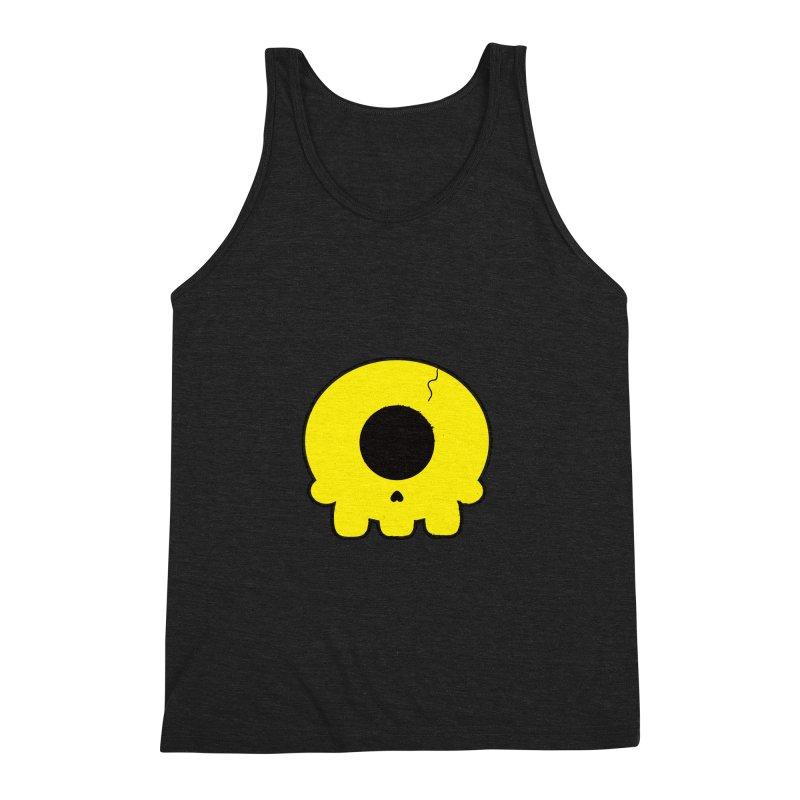 Cyclops Skull Men's Triblend Tank by Numb Skull