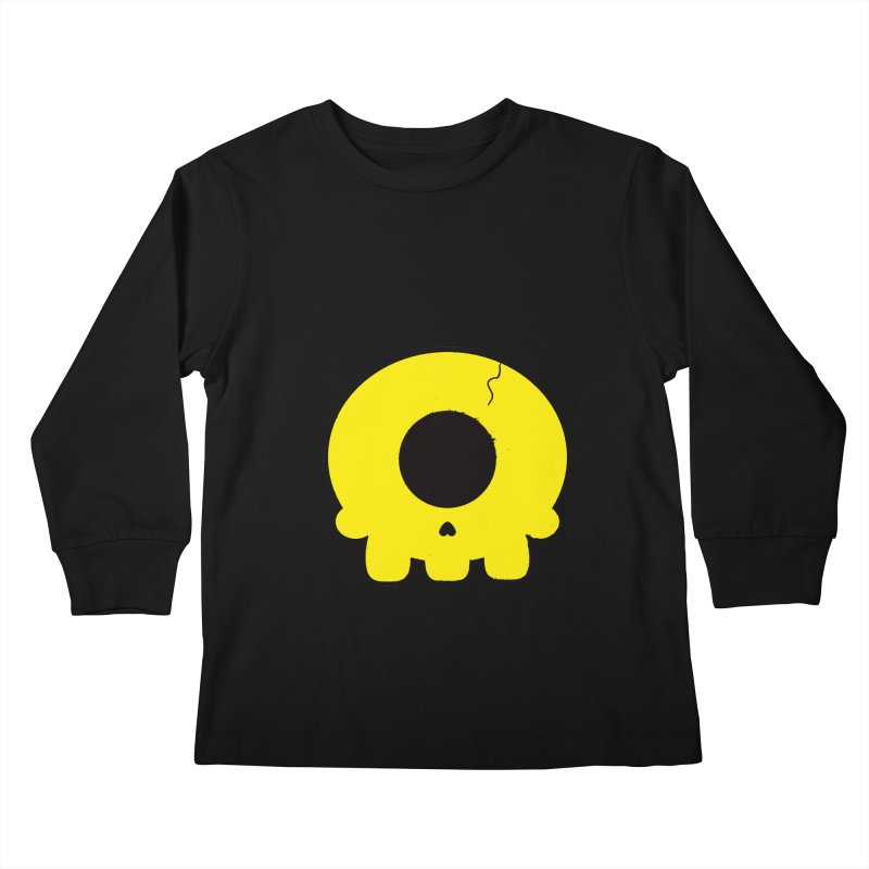 Cyclops Skull Kids Longsleeve T-Shirt by Numb Skull