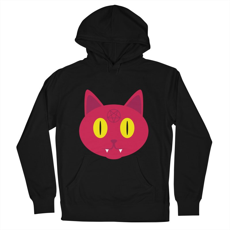 Devil Cat (Red) Women's Pullover Hoody by Numb Skull