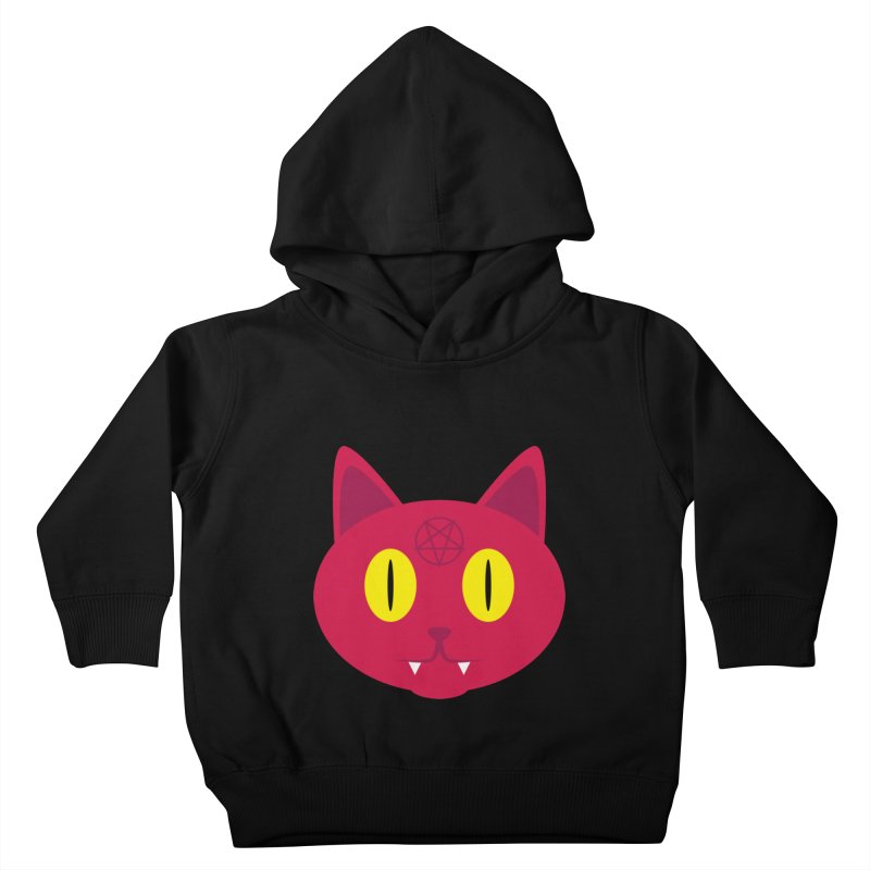 Devil Cat (Red) Kids Toddler Pullover Hoody by Numb Skull
