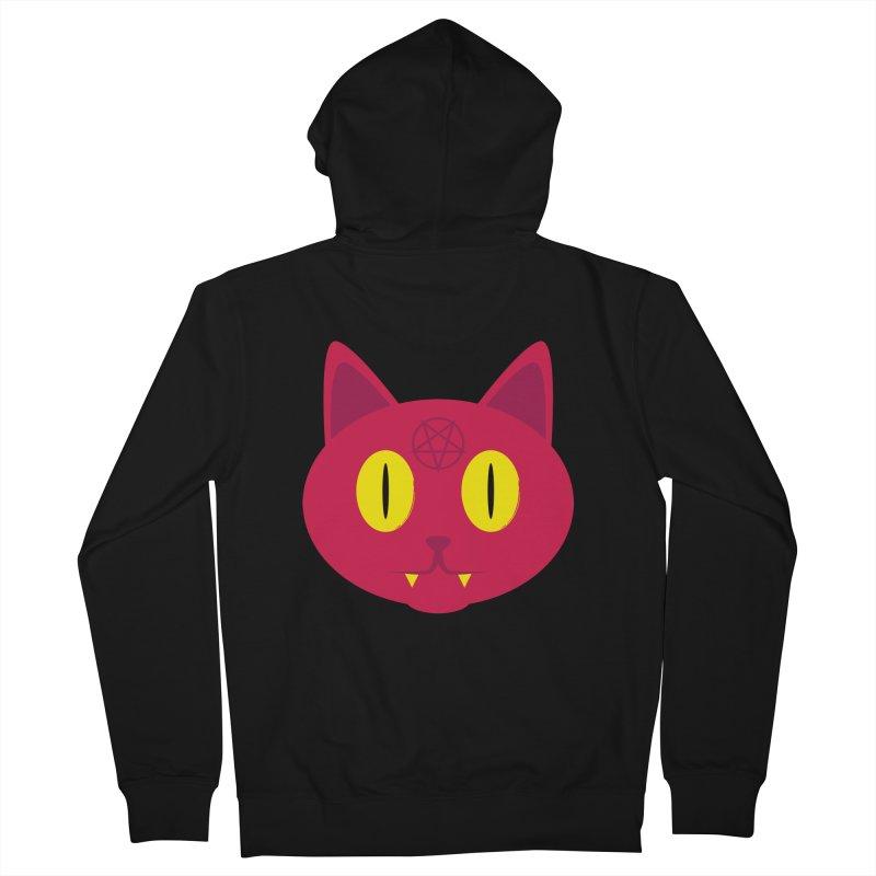 Devil Cat (Red) Women's Zip-Up Hoody by Numb Skull