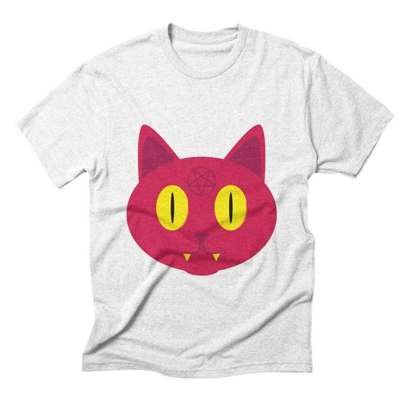 Devil Cat (Red) Men's Triblend T-shirt by Numb Skull
