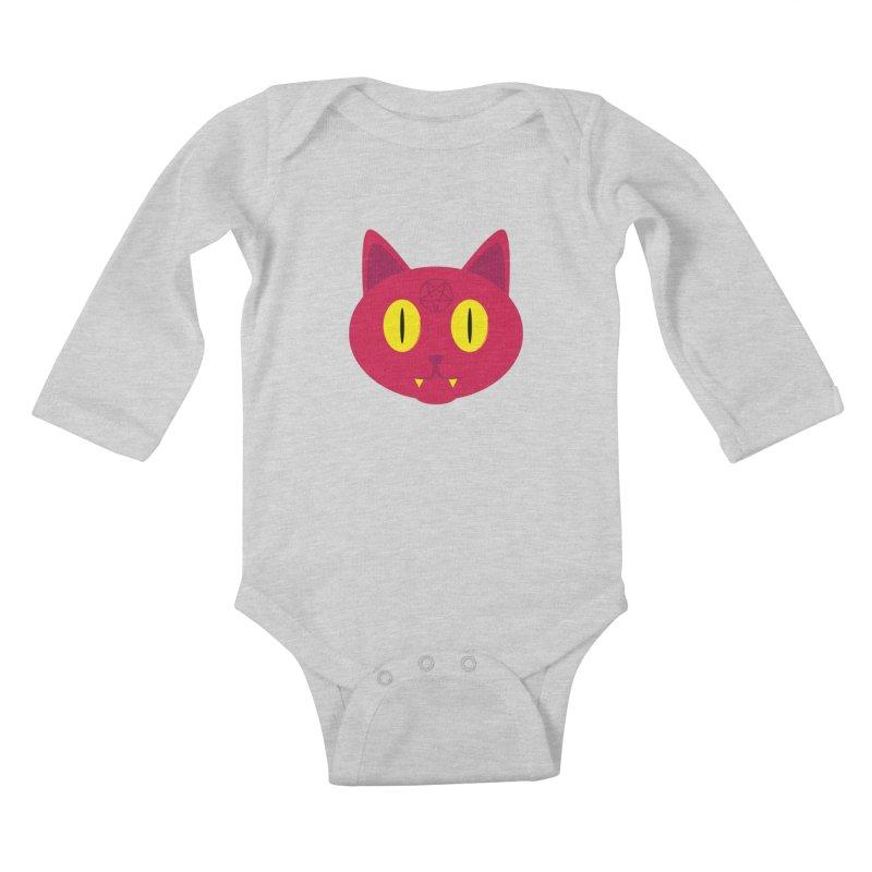 Devil Kat Kids Baby Longsleeve Bodysuit by Numb Skull