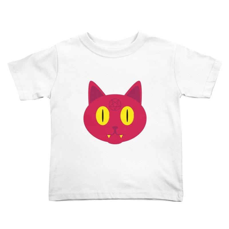 Devil Cat (Red) Kids Toddler T-Shirt by Numb Skull