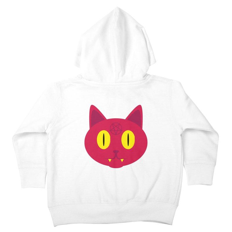 Devil Cat (Red) Kids Toddler Zip-Up Hoody by Numb Skull