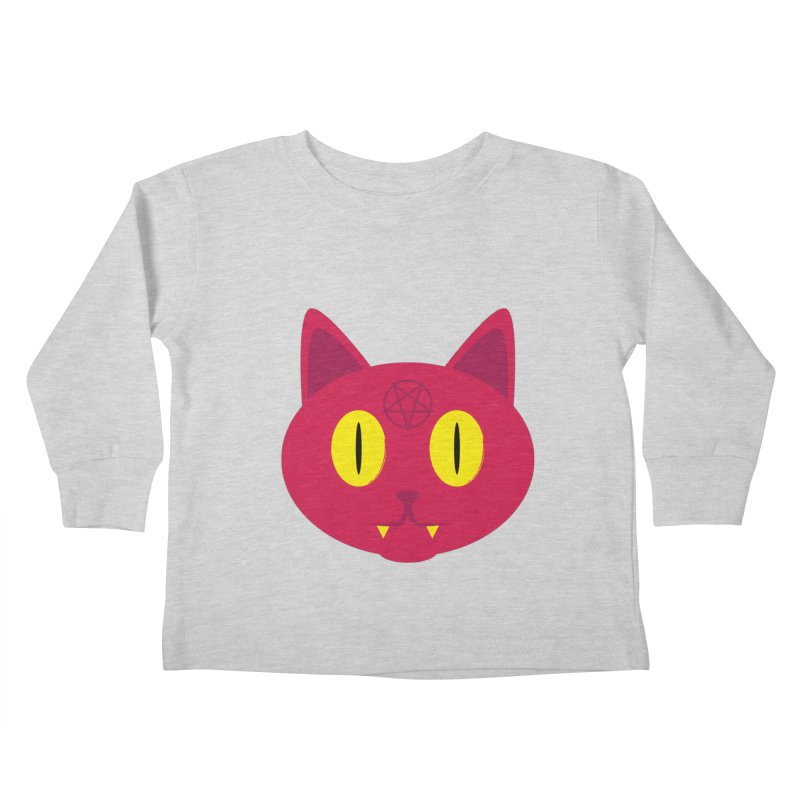 Devil Kat Kids Toddler Longsleeve T-Shirt by Numb Skull