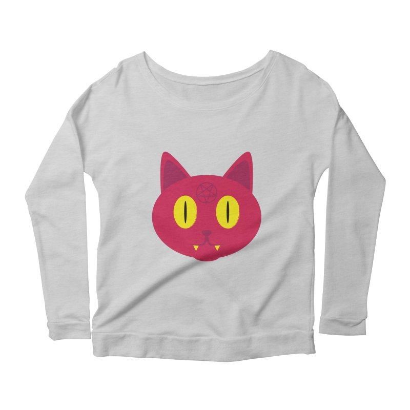 Devil Cat (Red) Women's Longsleeve Scoopneck  by Numb Skull