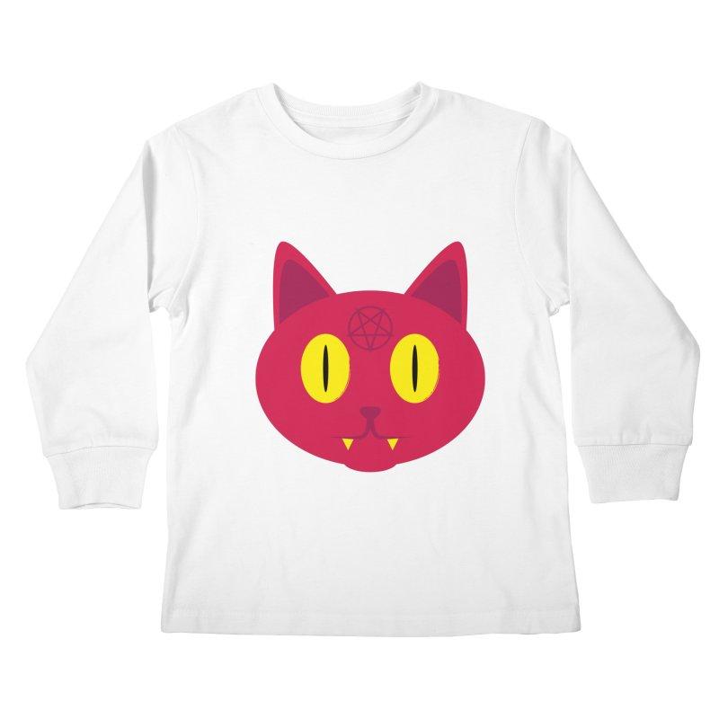 Devil Kat Kids Longsleeve T-Shirt by Numb Skull