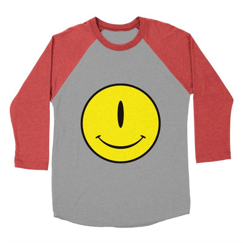 Happy Cyclops Men's Baseball Triblend T-Shirt by Numb Skull