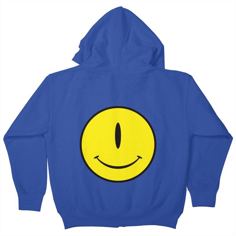 Happy Cyclops Kids Zip-Up Hoody by Numb Skull
