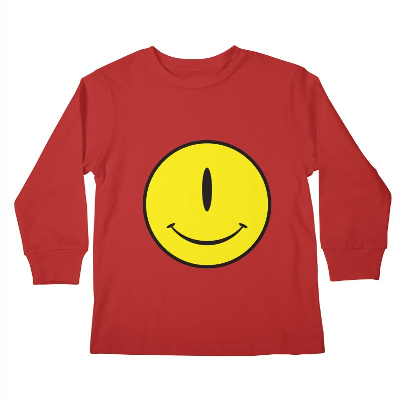 Happy Cyclops Kids Longsleeve T-Shirt by Numb Skull