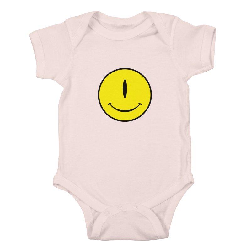 Happy Cyclops Kids Baby Bodysuit by Numb Skull