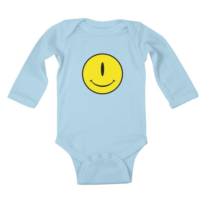Happy Cyclops Kids Baby Longsleeve Bodysuit by Numb Skull
