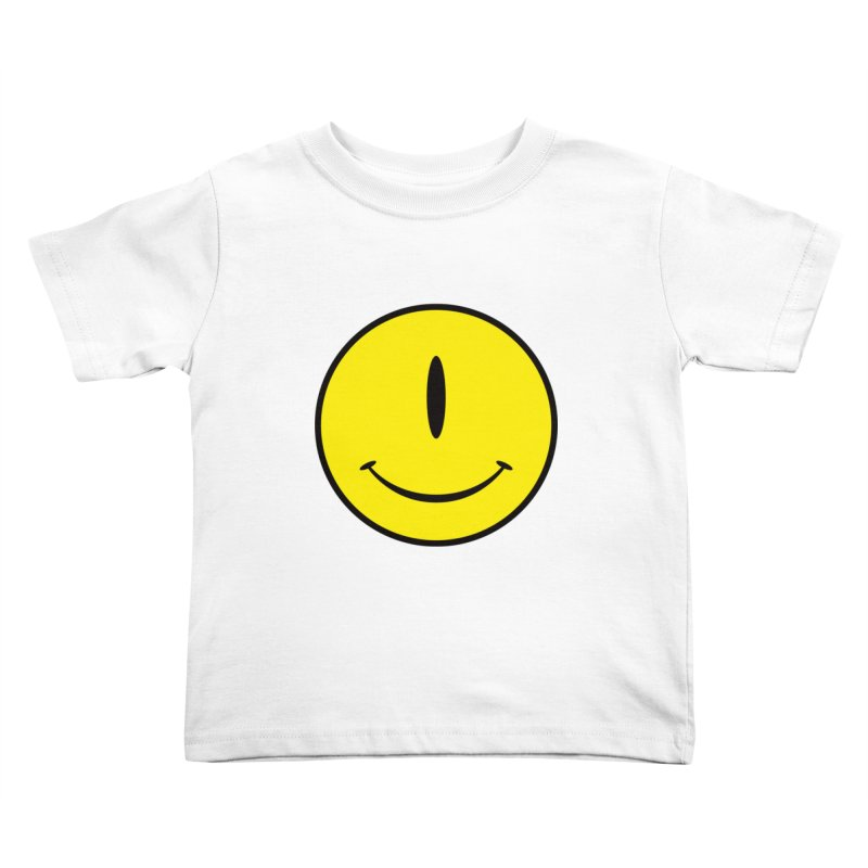 Happy Cyclops Kids Toddler T-Shirt by Numb Skull