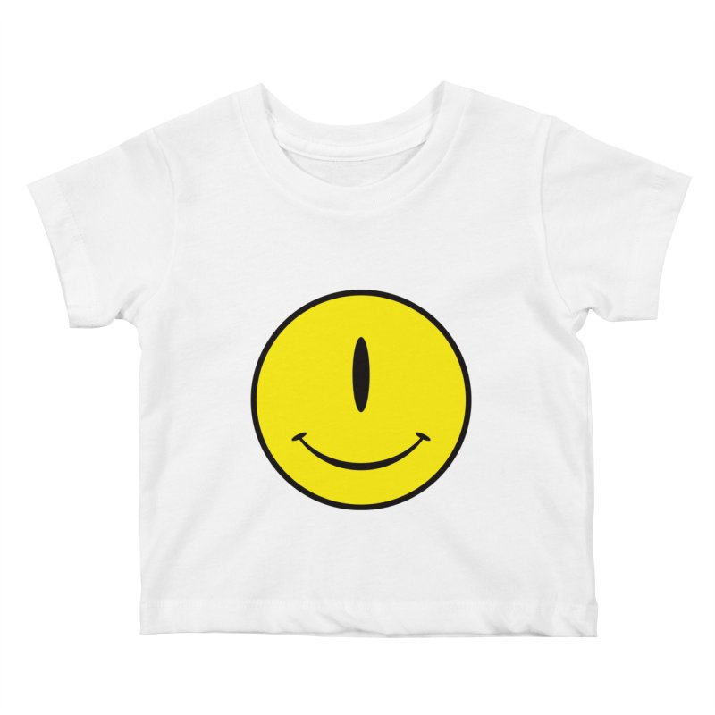 Happy Cyclops Kids Baby T-Shirt by Numb Skull