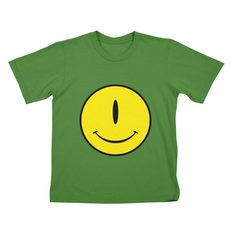 Happy Cyclops Kids T-shirt by Numb Skull