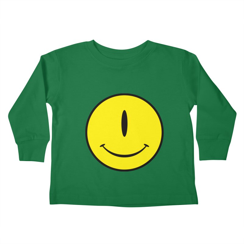 Happy Cyclops Kids Toddler Longsleeve T-Shirt by Numb Skull