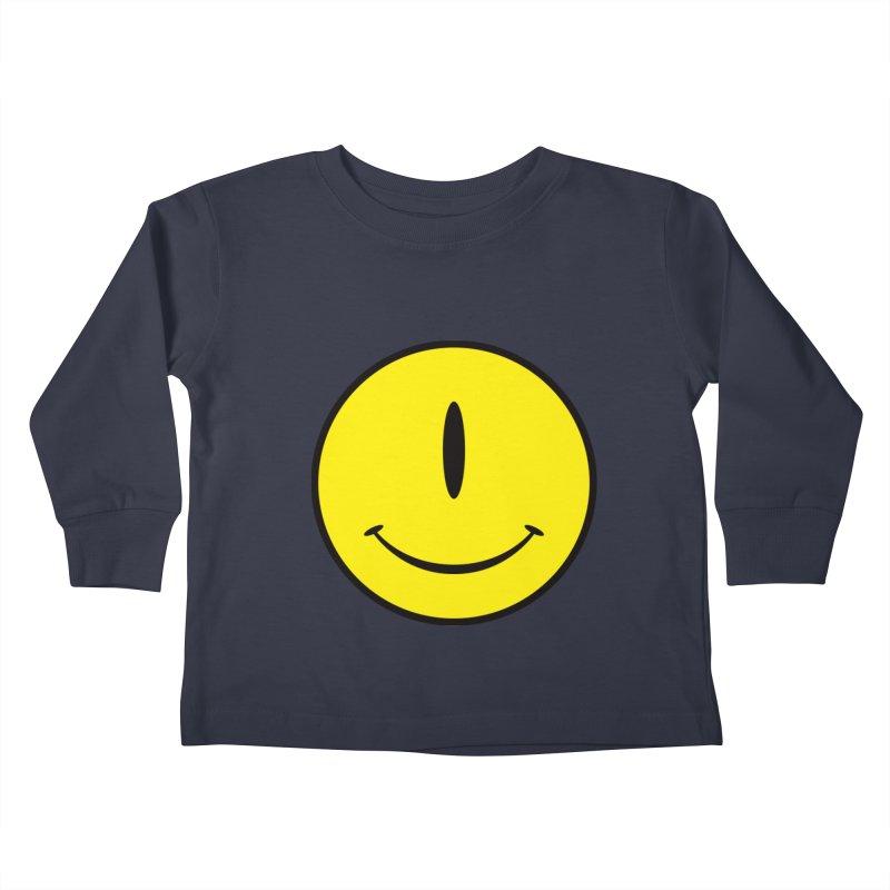 Happy Cyclops Kids Toddler Longsleeve T-Shirt by Numb Skull