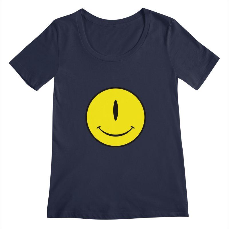 Happy Cyclops Women's Scoopneck by Numb Skull