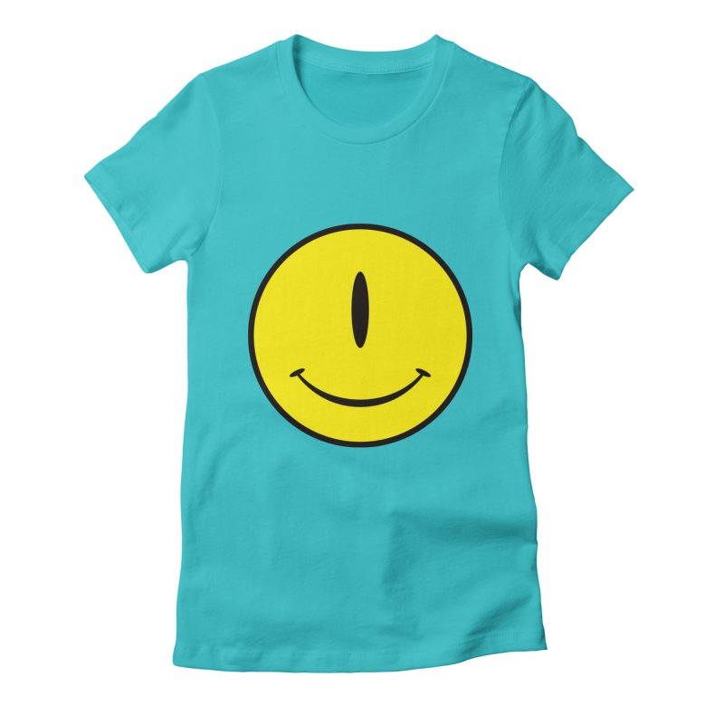 Happy Cyclops Women's Fitted T-Shirt by Numb Skull