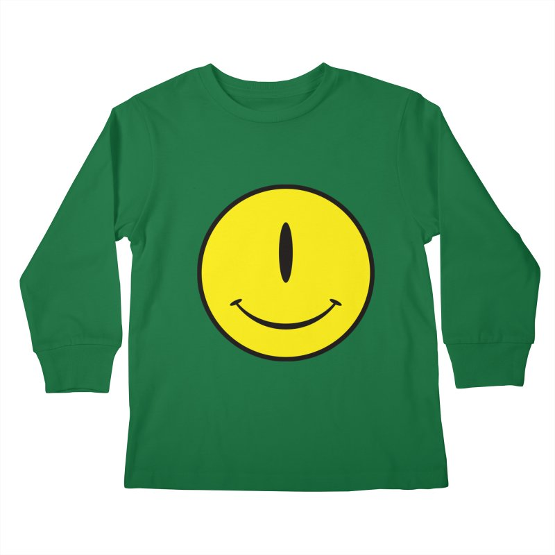 Happy Cyclops Kids Longsleeve T-Shirt by Numb Skull