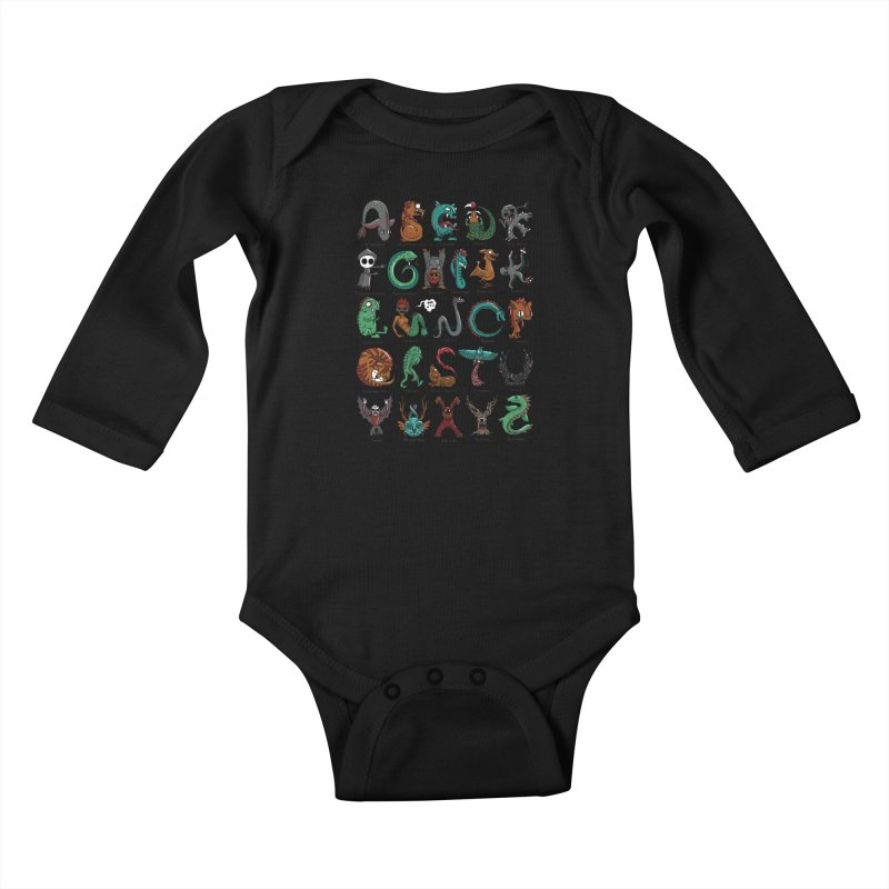 Cryptids Kids Baby Longsleeve Bodysuit by nutz's Artist Shop