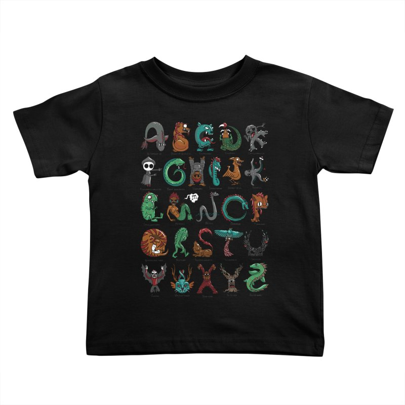Cryptids Kids Toddler T-Shirt by nutz's Artist Shop
