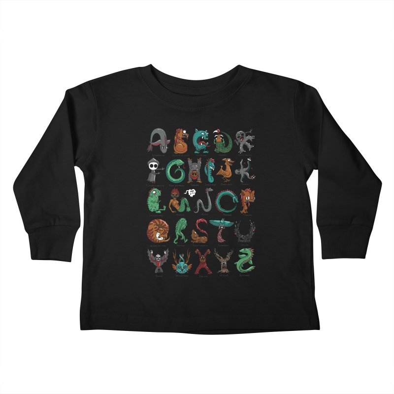 Cryptids Kids Toddler Longsleeve T-Shirt by nutz's Artist Shop